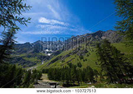 Mountain range in Gran Paradiso National Park, Alps, Italy