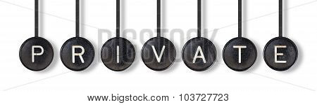 Typewriter Buttons, Isolated - Private
