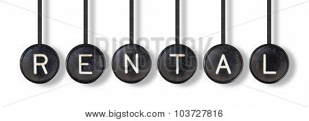 Typewriter Buttons, Isolated - Rental