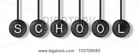 Typewriter Buttons, Isolated - School