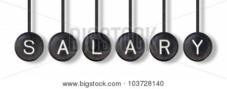 Typewriter Buttons, Isolated - Salary