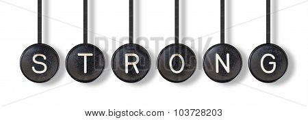 Typewriter Buttons, Isolated - Strong