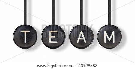 Typewriter Buttons, Isolated - Team