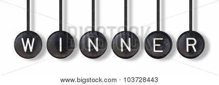 Typewriter Buttons, Isolated - Winner