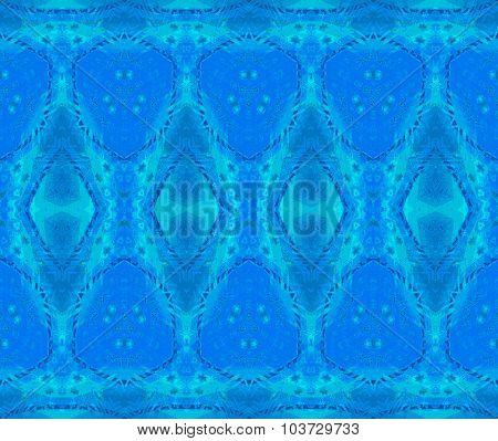 Seamless diamond pattern blue turquoise