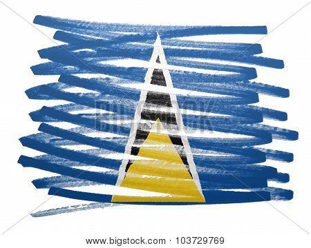 Flag Illustration - Saint Lucia