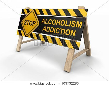Addiction Street Sign (clipping path included)
