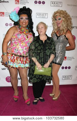 LOS ANGELES - OCT 4:  Kathy Kinney, Drag Queens at the Best In Drag Show at the Orpheum Theatre on October 4, 2015 in Los Angeles, CA