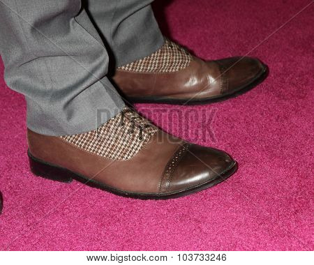 LOS ANGELES - OCT 4:  Boris Kodjoe (shoe detail) at the Best In Drag Show at the Orpheum Theatre on October 4, 2015 in Los Angeles, CA