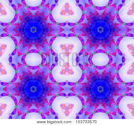 Seamless floral pattern blue purple
