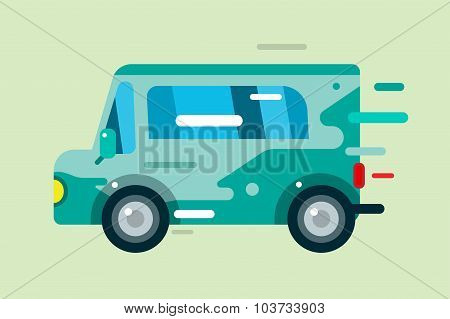 Vector cartoon car icon
