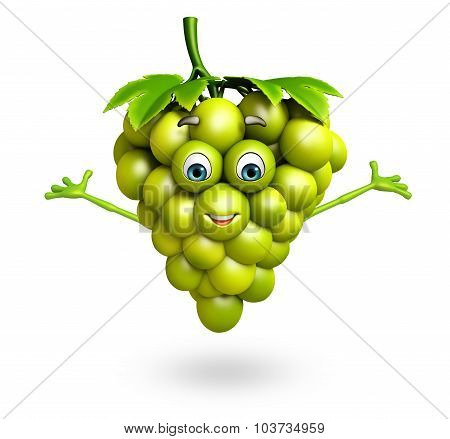 Cartoon Character Of Grapes
