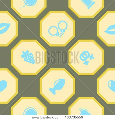 seamless background with sex symbols