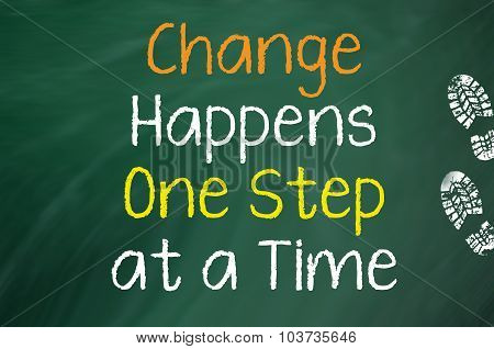 Change Happens One Step