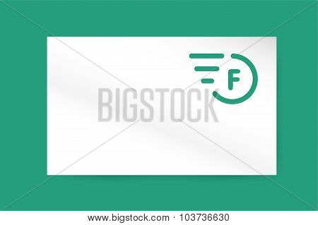 Fast line vector letter logo monogram business card