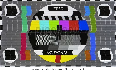 No Signal Test Tv Screen Card, Old Tv