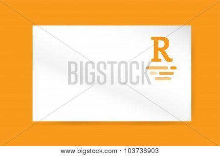 R royal hotel vintage letter logo vector template