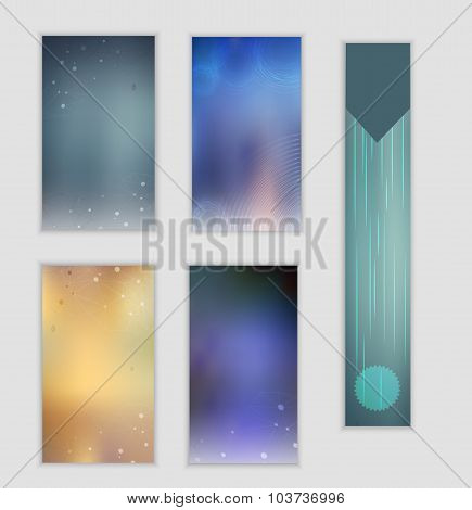 Vector  set of autumn blurred background with connections and water drops. Can be used for banners,
