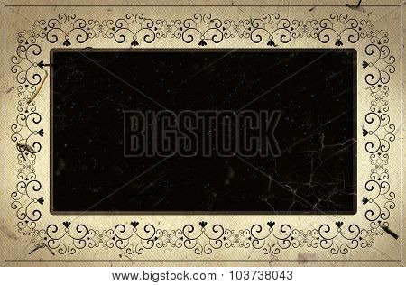 Retro style grunge frame  with space for your text or image.