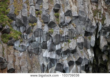 Arctic rocks background - basalt or touchstone formations