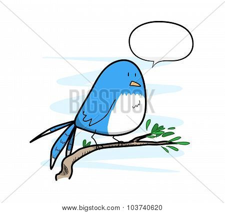 Bird With Text