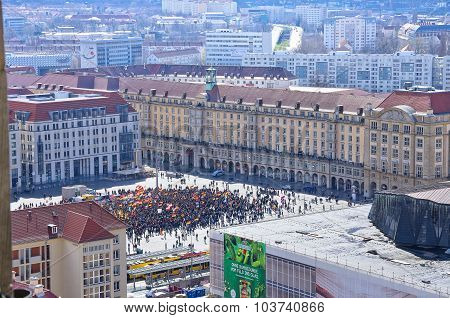 Pegida Demonstration, Dresden, Germany