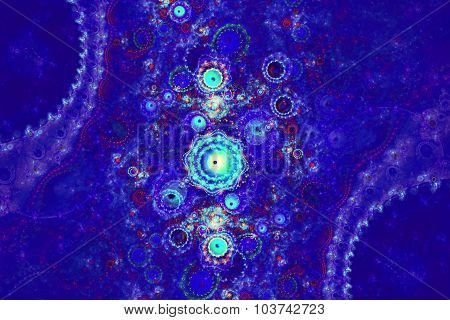 Abstract background with stars glitter colors and line. Fractal art graphic
