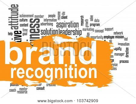 Brand Recognition Word Cloud With Orange Banner
