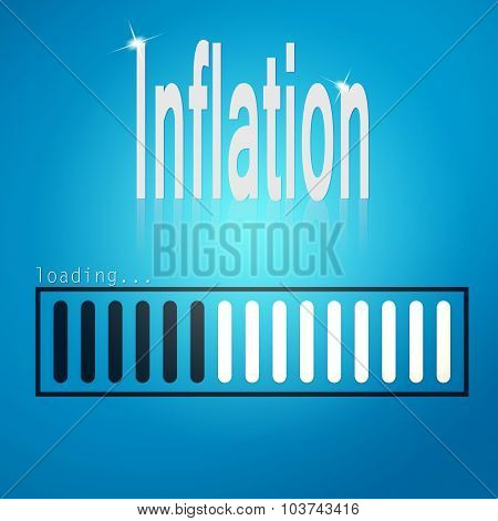 Inflation Blue Loading Bar