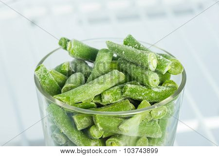 Frozen Green Beans In Freezer
