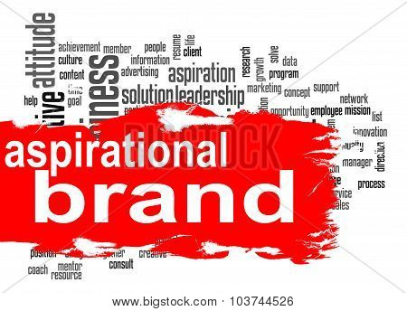 Aspirational Brand Word Cloud With Red Banner
