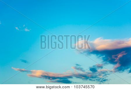Image Of Clear Blue Sky And White Clouds On Day Time For Background .