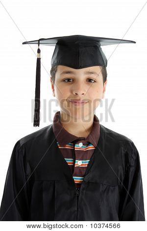 Graduation Boy On White Background