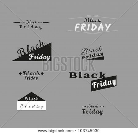 Different Trade Icons For Black Friday