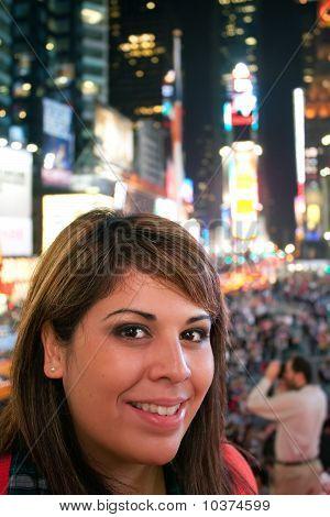 Mulher em Nova York de Times Square
