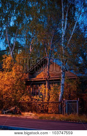 Old Wooden House In The Twilight