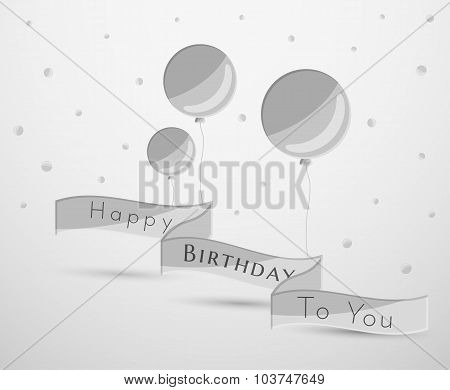 Gray Balloons And Ribbon
