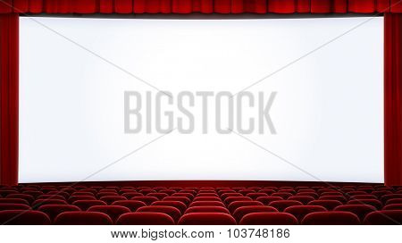 wide cinema screen background cropped with aspect ratio 16:9