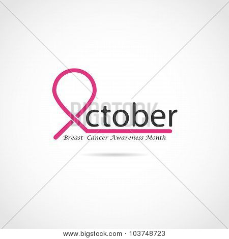 Breast Cancer Awareness Icon. Breast Cancer Awareness Month.realistic Pink Ribbon.