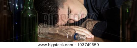 Unconscious Drunken Man
