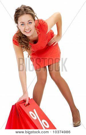 Mulher depois de fazer compras