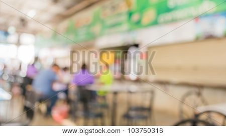 Image Of Blur People At Food Center On Day Time