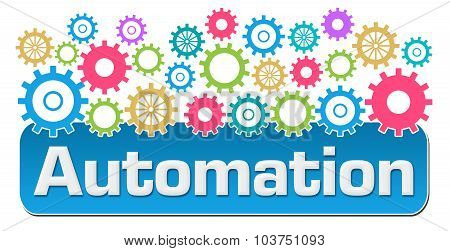 Automation With Colorful Gears On Top