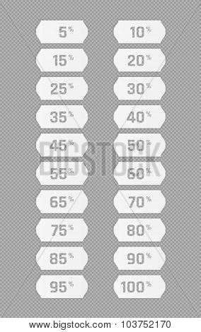 Price Tag Stickers With Percentage Discount
