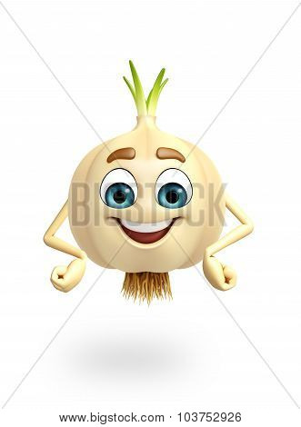 Cartoon Character Of Garlic