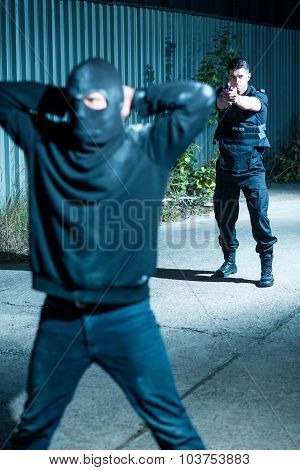 Brave Police Officer