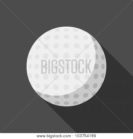 Golf Ball Icon With Long Shadow
