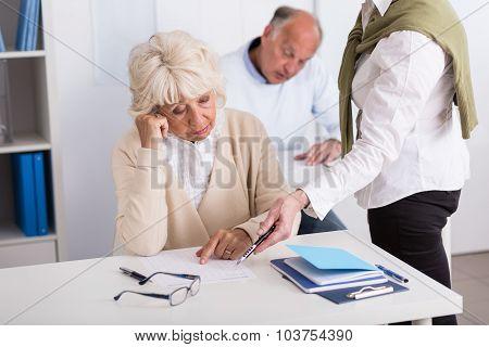 Teacher Helping Worried Aged Female