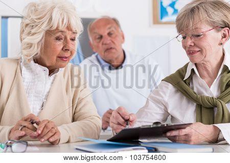 Teacher Explaining Exercise