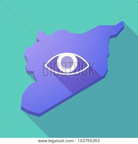 Long Shadow Syria Map With An Eye